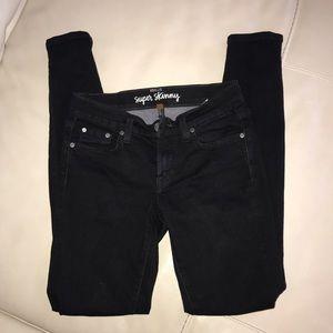 Black Fossil Skinny Jeans